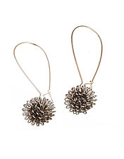 Floral Burst Drop Earrings by Erica Zap (Metal Earrings)