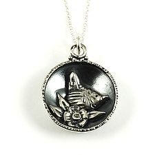 Sing Bird Pendant by Vickie  Hallmark (Silver Necklace)