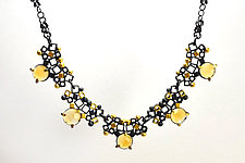 Collecting Pollen Necklace by Bethany Montana (Gold, Silver & Stone Necklace)