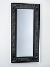 Black Lightning Mirror by Sylvie Rosenthal (Wood Mirror)