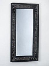 Black Lightning Mirror by Sylvie Rosenthal (Wood Mirror)