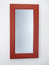 Red Seed Mirror by Sylvie Rosenthal (Wood Mirror)