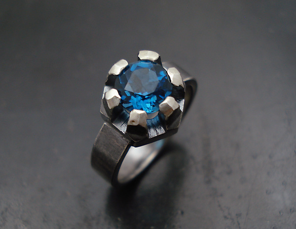 Fortress Ring with Topaz