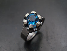 Fortress Ring with Topaz by Tavia Brown (Silver & Stone Ring)