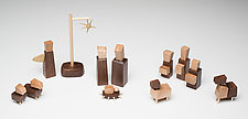 Nativity Scene by Hilary Pfeifer (Wood Sculpture)