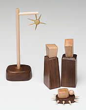 Small Nativity Scene by Hilary Pfeifer (Wood Sculpture)