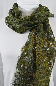 Threadwork Scarf 816 by Andi Shannon  (Stitched Scarf)