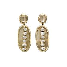 Lega Pink Pearl Earrings by Julie Cohn (Bronze & Pearl Earrings)