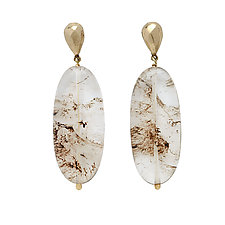 Wisp Earrings by Julie Cohn (Bronze & Stone Earrings)