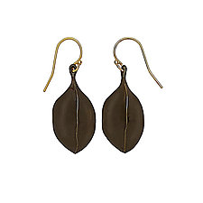 Black Amulet  Earrings by Julie Cohn (Bronze Earrings)