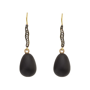 Raven Earrings by Julie Cohn (Gold & Stone Earrings)