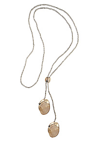 Talisman Lariat by Julie Cohn (Bronze Necklace)