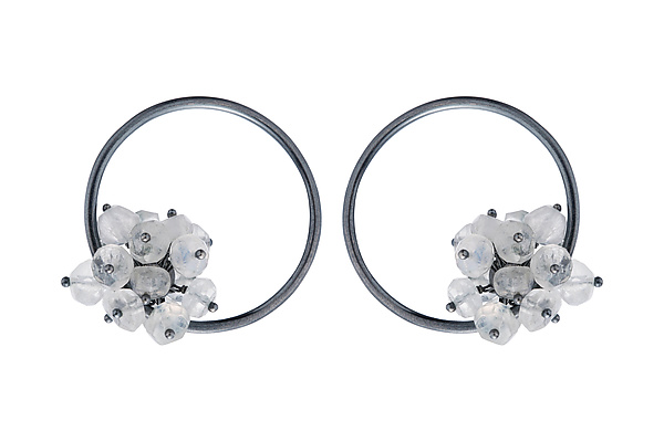 Large Adva Moonstone Hoops