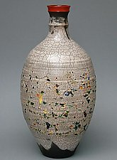 Inlaid Glass by Paul  Schneider (Ceramic Vase)