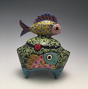 Fishes, Fishes by Lilia Venier (Ceramic Box)
