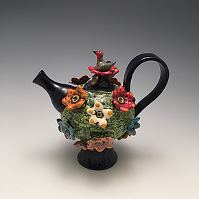 Hummingbird Teapot by Lilia Venier (Ceramic Teapot)
