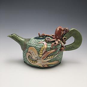 Ocean Friends by Lilia Venier (Ceramic Teapot)