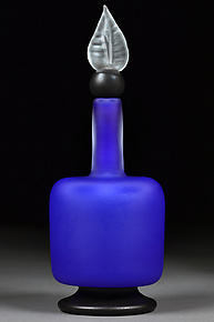 Lapis Levity by Eric Bladholm (Art Glass Bottle)