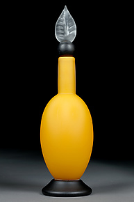 Sleek Saffron by Eric Bladholm (Art Glass Bottle)