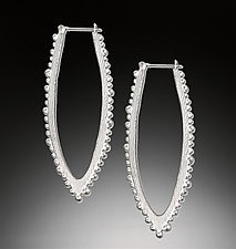 Bumpy Linear Hoop by Dahlia Kanner (Silver Earrings)