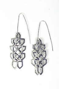Cascading Earrings by Diana Eldreth (Silver Earrings)