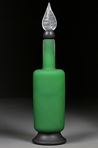 Evocative Emerald by Eric Bladholm (Art Glass Bottle)