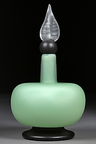 Misty Mint by Eric Bladholm (Art Glass Bottle)