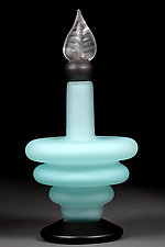 Teal Tempo by Eric Bladholm (Art Glass Bottle)