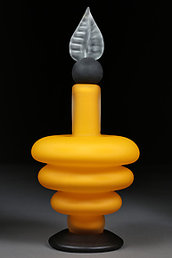 Sonic Saffron by Eric Bladholm (Art Glass Bottle)