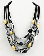 Andrea Four-Strand Necklace by Klara Borbas (Polymer Clay Necklace)