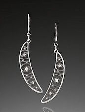 Shooting Stars Dangle Earrings by Martha Seely (Silver & Stone Earrings)