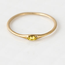 Yellow Marquise Sapphire Stacking Ring by Melanie Casey (Gold & Stone Ring)