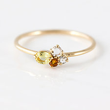 Sweet Honey Mini Cluster Ring by Melanie Casey (Gold & Stone Ring)
