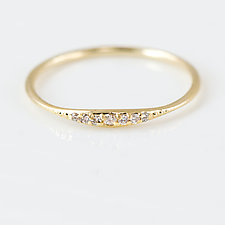 Diamond Tiny Line Band by Melanie Casey (Gold & Stone Ring)