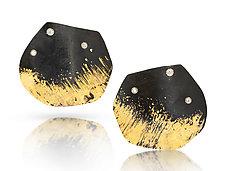 Petal Earrings by Pat Flynn (Gold, Steel & Stone Earrings)
