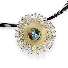 Frill Pendant by Samantha Freeman (Gold, Silver & Stone Necklace)