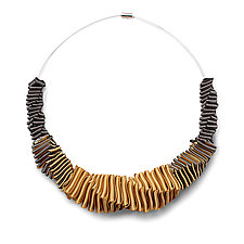 Turning Necklace #1 by Sophia Hu (Polyester & Stainless Steel Necklace)