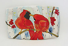 Cardinal Pair Plate by Dwo Wen Chen (Ceramic Plate)
