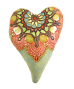 Aunt Jules by Laurie Pollpeter Eskenazi (Ceramic Wall Sculpture)
