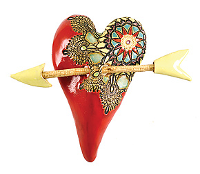 Mi Amor by Laurie Pollpeter Eskenazi (Ceramic Wall Sculpture)