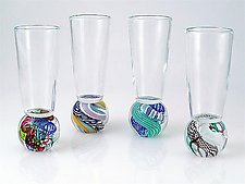 Marble Cordial Glass by Michael Egan (Art Glass Glasses)