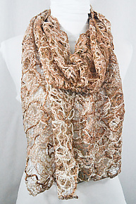 Threadwork Scarf 754 by Andi Shannon  (Stitched Scarf)