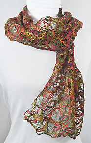 Threadwork Scarf 805 by Andi Shannon  (Stitched Scarf)