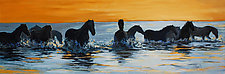 Dusk Crossing by Ritch Gaiti (Oil Painting)
