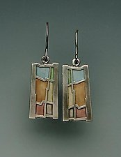 Wave Earrings No.212 by Carly Wright (Silver & Enamel Earrings)