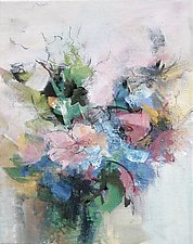 Floral 7 by Karen  Hale (Acrylic Painting)