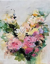 Floral 9 by Karen  Hale (Acrylic Painting)