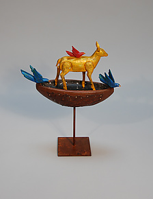 Deer Fable by Elizabeth Frank (Wood Sculpture)
