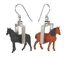 Horse Earrings by Kristin Lora (Silver Earrings)