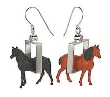 Horse Earrings by Kristin Lora (Silver Earrings)